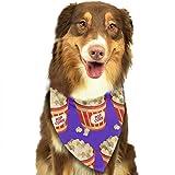 Popcorn Repeat Pattern Dog Cat Bandanas Triangle Bibs Scarf Dog Neckerchief Headkerchief Accessories