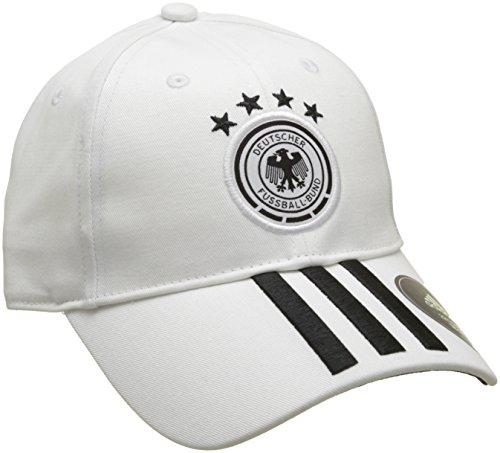 adidas Kinder DFB 3-Streifen Kappe, White/Black, OSFY