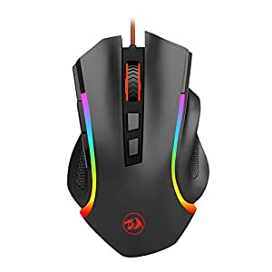 Redragon M602 NEMEANLION 3000 DPI USB Gaming Mouse for PC, 7 Buttons, 7 Color LED Backlighting