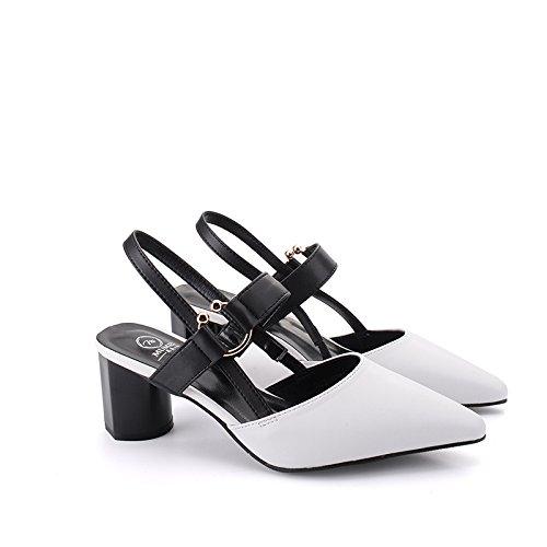 FLYRCX Moda estate personalità sandali brevetto appuntita tacchi b