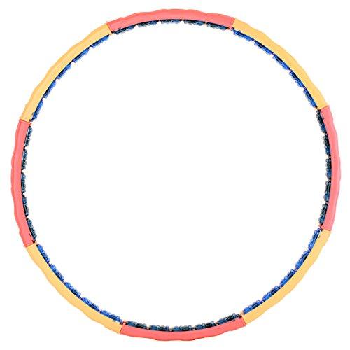Hoopomania Vital Hoop, Hula Hoop mit 40 Magneten 2,6kg Band, 2.6
