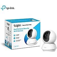 TP-Link Cámara IP WiFi, Admite tarjeta SD de hasta 128 GB,Cámara de Vigilancia FHD con Visión Nocturna,Cámara de Mascota,Detección de Movimiento,Audio de 2 Vías,Compatible con iOS/Android (Tapo C200)