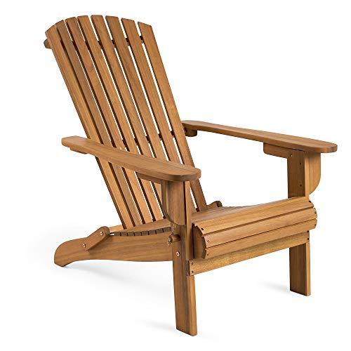 Latte-stühle (VonHaus klappbarer Adirondack-Stuhl - Outdoor Gartenmöbel aus Acacia Hartholz mit geölter Oberfläche)