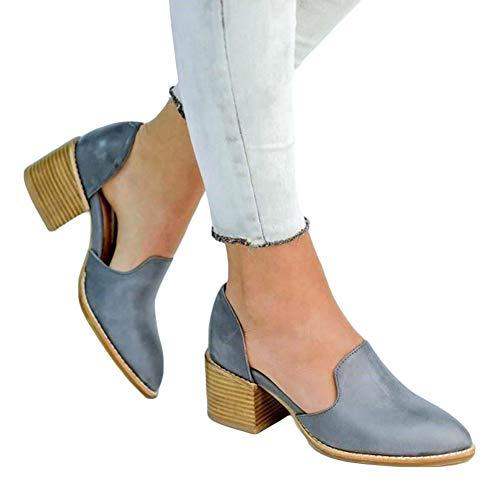 Mocassini donna pelle scarpe tacco basse eleganti estate piatte loafers blocco medio 5cm scarpe zeppa sexy casual moda nero blu 35-43 bl37