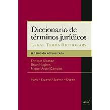 Diccionario de términos jurídicos: Inglés-Español, Spanish-English (Ariel Derecho)