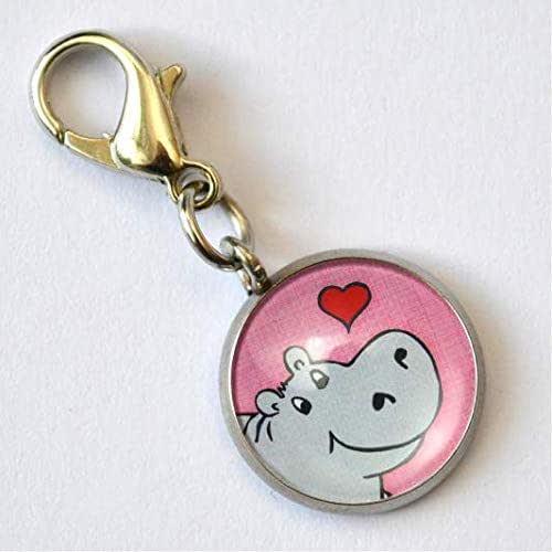 Minianh/änger Hippo Nilpferd rosa
