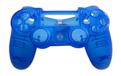 JYR Wireless Handle Hard Shell Transparent Color Shell Case for PS4 Game Controller - Transparent - blue by JYR