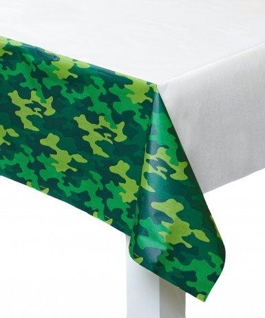 amscan Tischdecke Camouflage Party-Deko grün 137x259cm Einheitsgröße
