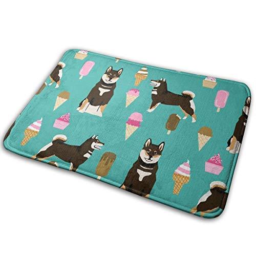 best pillow Shiba Inu Black and Tan Coat Ice Cream Dog Breed Pure Breed Teal_17954 Doormat Entrance Mat Floor Mat Rug Indoor/Outdoor/Front Door/Bathroom Mats Rubber Non Slip 23.6