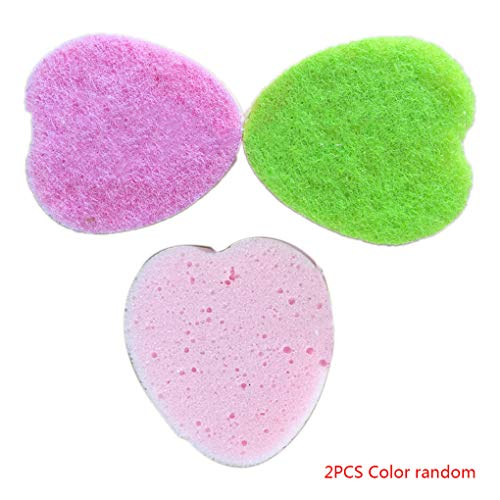 Level GREAT2pcs / Set baño Esponja Forma corazón