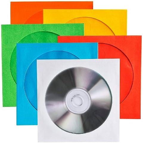 Vivanco - Funda de papel para CD y DVD multicolor 100 unidades