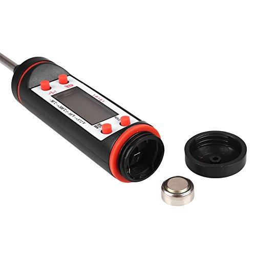 Hongfei Aire Acondicionado Term/ómetro Digital LCD Term/ómetro Medidor Check Tool Salida de la Aguja Tipo Auto Veh/ículo