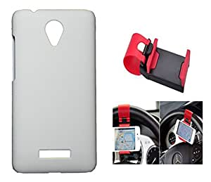 Toppings Hard Case Cover With Car Steering Wheel Socket For Vivo Y28 - white