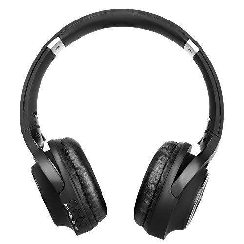 RICHVOLT Wireless Bluetooth Over Ear Stereo Foldable Noise Cancelling Headphones,Wireless and Wired Mode Headsets with Soft Protein Earmuffs,SD/TF Card Slot, Built-in Mic for Mobile Phone PC Laptop Image 4
