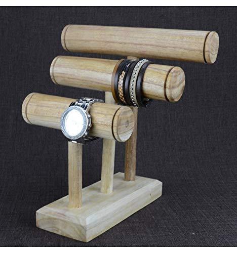 Etagere Armbänder und Uhren 3Armbandhalter aus Holz massiv roh -