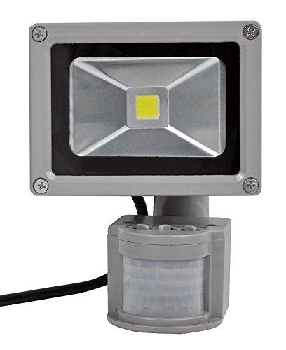 10W/20W/30W/50W/100W LED Fluter Strahler + Bewegungsmelder Scheinwerfer Flutlichtstrahler kaltweiß Lampe Licht Flutlicht Außenstrahler wasserdicht IP65 Wandleuchte (10 Watt) -