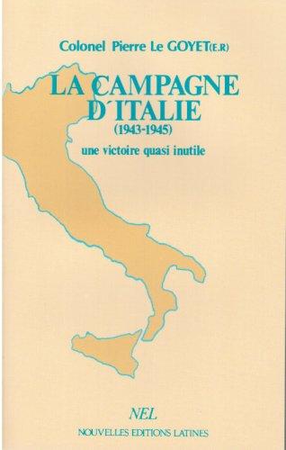 La campagne d'Italie par Pierre Le Goyet