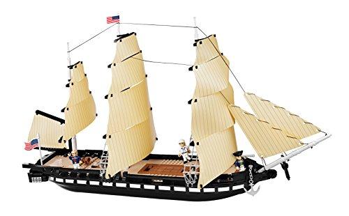COBI 21078 Smithsonian USS Constitution, Schwarz, Braun, Weiß, Grau