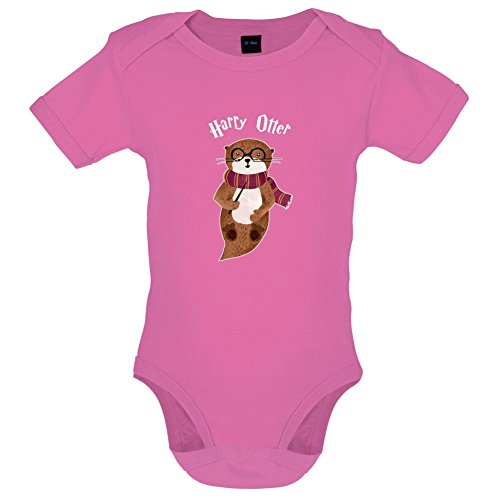 Dressdown Harry Otter - Lustiger Baby-Body - Bubble-Gum-Pink - 3 bis 6 Monate