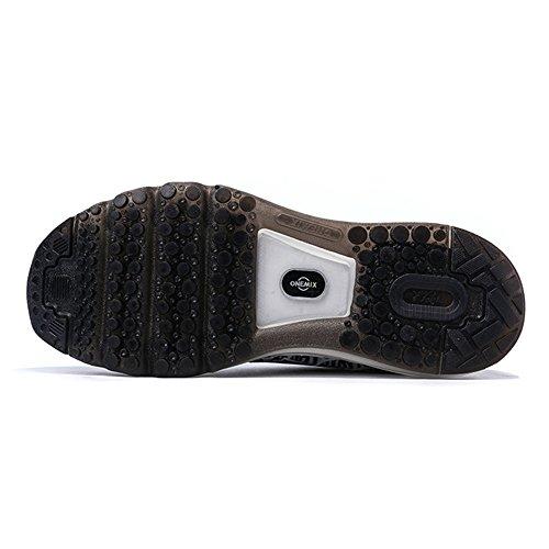 Onemix Herren Damen Air Laufschuhe Sportschuhe mit Luftpolster Turnschuhe Leichte Schuhe Sportschuhe Grau Schwarz