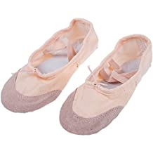 SODIAL(R) Zapatos de Bailarina Ballet zapatos de lona para hija nina - encarnada