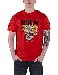 All Time Low Da Bomb band logo officiel Homme nouveau Rouge T Shirt