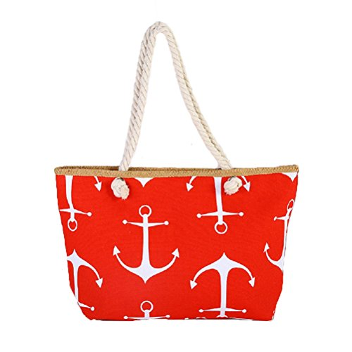 Samanthajane Clothing , Borsa da spiaggia  Donna Anchor Red