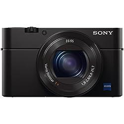 """Sony DSC-RX100 III Appareil Photo Numérique Compact Ecran 3"""" (7,62 cm) 20,1 Mpix Zoom Optique 2,9x HDMI/USB/Wi-Fi Noir"""