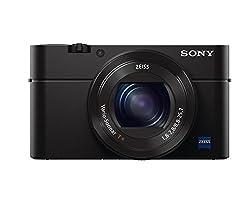 Sony RX100 III Premium Kompakt Digitalkamera (20.1 MP, 7,6 cm (3 Zoll) Display, 1 Zoll Senso, 24-70 mm F1.8-2.8 Zeiss Objektiv, Full HD, WiFi, NFC) (DSC-RX100M3) schwarz