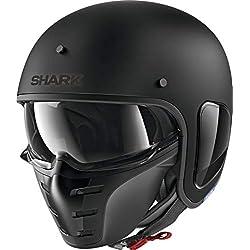 Shark Casque moto S-DRAK BLANK MAT KMA, Noir, L