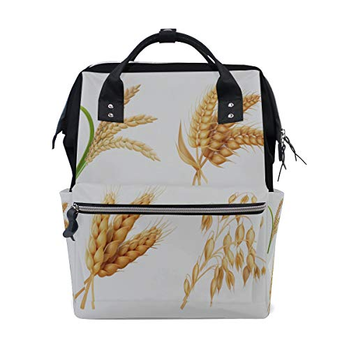Landwirtschaft Getreide Reis Weizen Große Kapazität Windel Taschen Mummy Rucksack Multi Funktionen Windel Pflege Tasche Tote Handtasche Für Kinder Babypflege Reise Täglichen Frauen -
