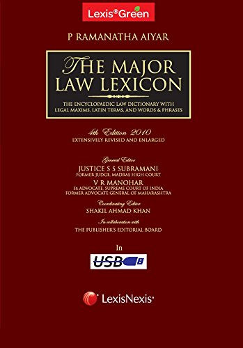 LexisGreen The Major Law Lexicon - 2010 in USB Format (Set of 6 Volumes)