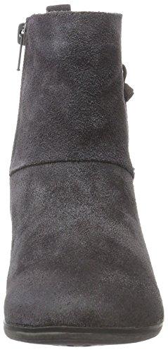 Unbekannt - Leder-stiefelette, Stivali a metà polpaccio con imbottitura leggera Donna Grigio (Grau (210 GRAPHITE VL))