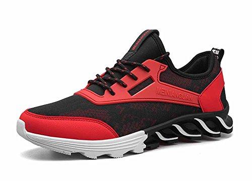 GLSHI Hommes Chaussures de Basket-Ball Respirant Chaussures de Course en Plein air Occasionnels Mode Baskets Légères Chaussures de Sport Confortables