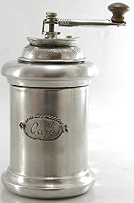 Beautiful coffee grinder in pewter. Functioning. MADE IN ITALY |Cavagnini - since1999|