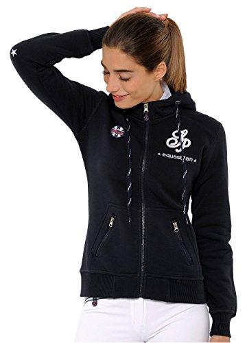 Zip-front-strickjacke (SPOOKS Damen Sweatjacke, Kapuzen-Jacke Mädchen Kinder Frauen - Awa Jacket Navy S)