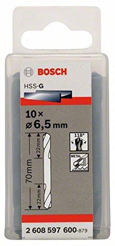 BOSCH 2 608 597 600  - BROCA DE DOBLE PUNTA - 6 5 X 22 X 70 MM (PACK DE 10)