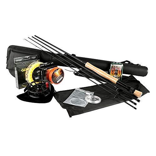 Wenhu Fischen Combos-Fly Fishing Kits 2.7M Fliegenruten 5/6 7/8 CNC-gefräste Aluminium Fliegenrolle mit Angelködern und Angelschnüren Rod Combo (Fly Leader-ringe Fishing)