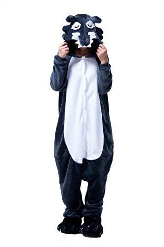 Imagen de lihao pijama disfraz de lobo para adulto unisex, cosplay, carnaval talla l