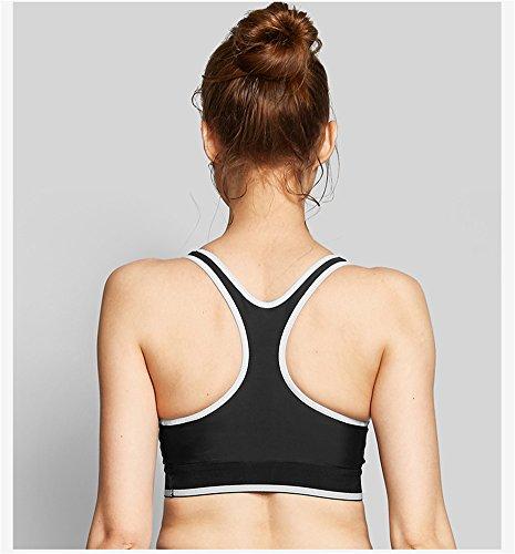 YeeHoo Women's Racerback Sports Fitness Support Workout yoga Bras Grigio