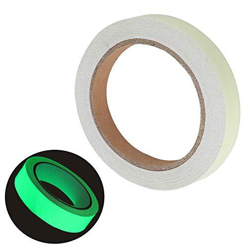 FULARR 10mm×10m Premium Fluoreszierendes Klebeband, Luminous Tape Phosphor Klebeband, Nachleuchtend Markierungsband, Leuchtendes Band Selbstklebend Warnklebeband, Glow in The Dark -- Grünes Licht