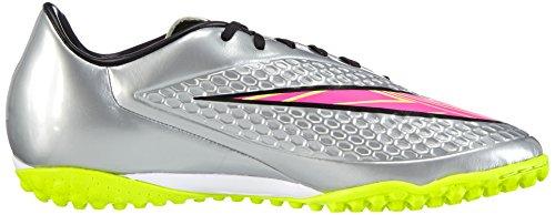 Nike Hypervenom Phelon Premium Tf, Chaussures de football homme Gris - Grau (Chrome/Hyper Pink-Mtlc Gld Cn)