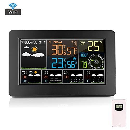 ORPERSIST Smart Wecker Wireless Wetterstation Mit LED-Anzeige Innen- Und Außentemperatur Und Luftfeuchtigkeit