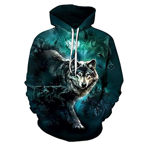 Wolf Sweatshirt Unisex Hoodies 3D Hoody Männer Frauen Trainingsanzüge Herbst Mantel Mit Kapuze Kleidung Streetwear Mantel AFKH2105 XXL