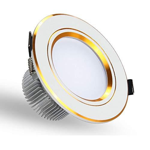Modenny 9W/12W LED De Techo Foco Empotrado Panel De Aluminio Foco Empotrable...