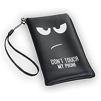 "'Cremallera Funda Softcase Negro ""Don' t Touch"" adecuado para ""Alcatel OneTouch POP 2(4.5) (5042d) funda carcasa SLIM Case Cover Funda"