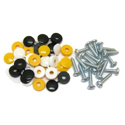 all-trade-direct-18-pk-caps-screws-car-number-plate-fixing-fitting-kit