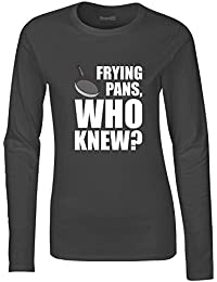 Brand88 Frying Pans, Who Knew?, Ladies softstyle long sleeve teeshirt