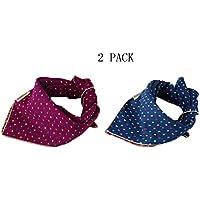 unihubys 2unidades de baberos Bandana triángulo pañuelo de cabeza bufanda accesorios para pequeños a grandes mascotas perro y gato