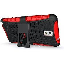 FALIANG Samsung Galaxy Note 3 Funda, 2in1 Armadura Combinación Neumáticos Patrón A Prueba de Choques Heavy Duty Escudo Cáscara Dura para Samsung Galaxy Note 3 (Rojo)